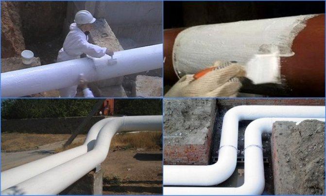 Утепление труб водоснабжения на улице: как, чем?