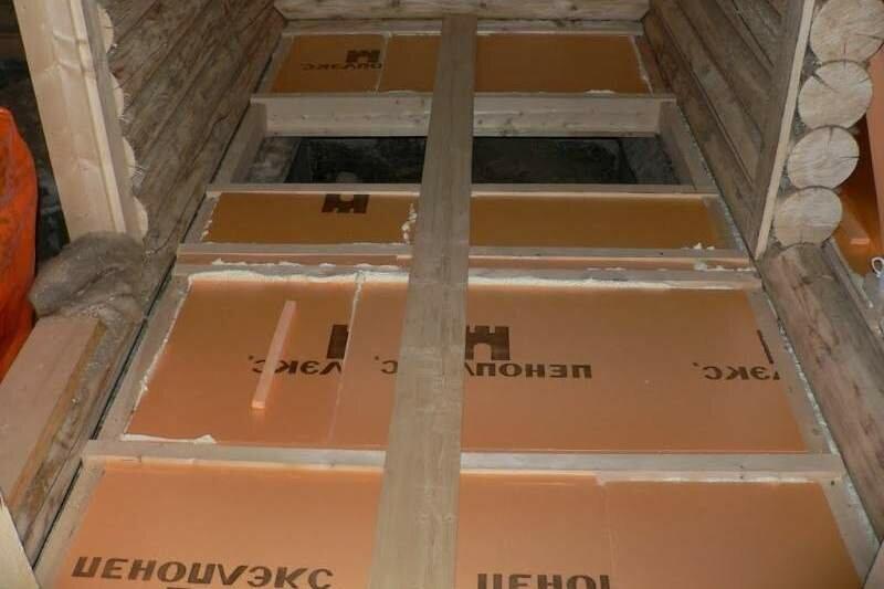 Утепление пола пеноплексом - деревянного и бетонного, пошаговая инструкция