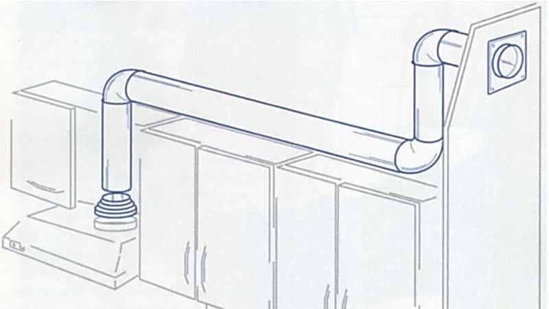 Как устанавливают вытяжки над газовой плитой мастера