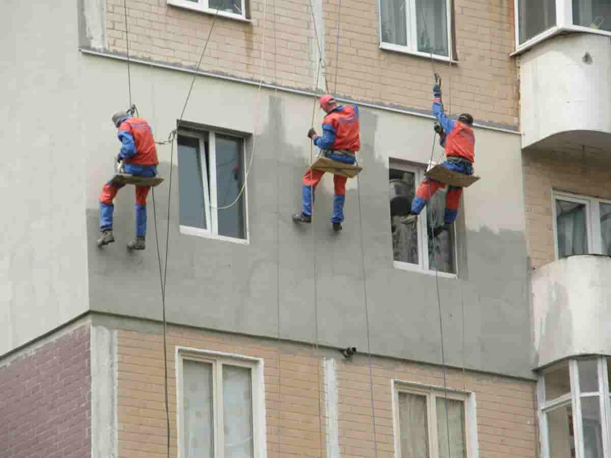 Утепление фасада дома снаружи пенополистиролом - цена за работу м2