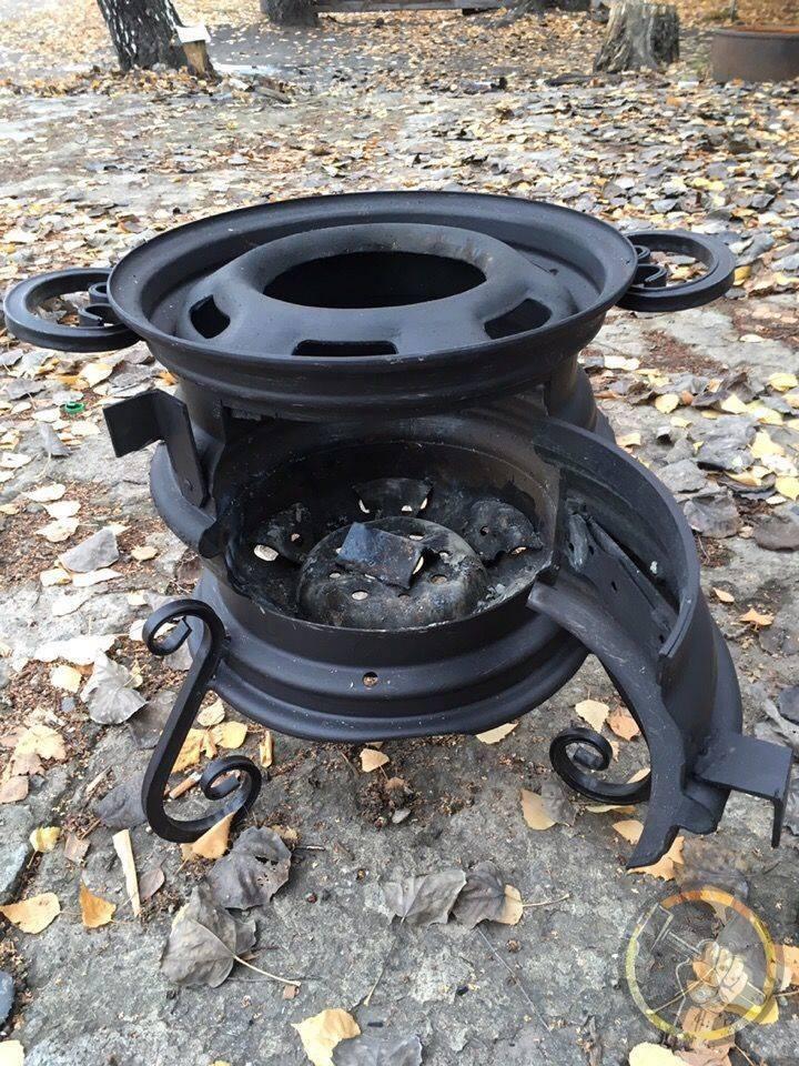 Буржуйка из колесных дисков своими руками: подробная инструкция, фото