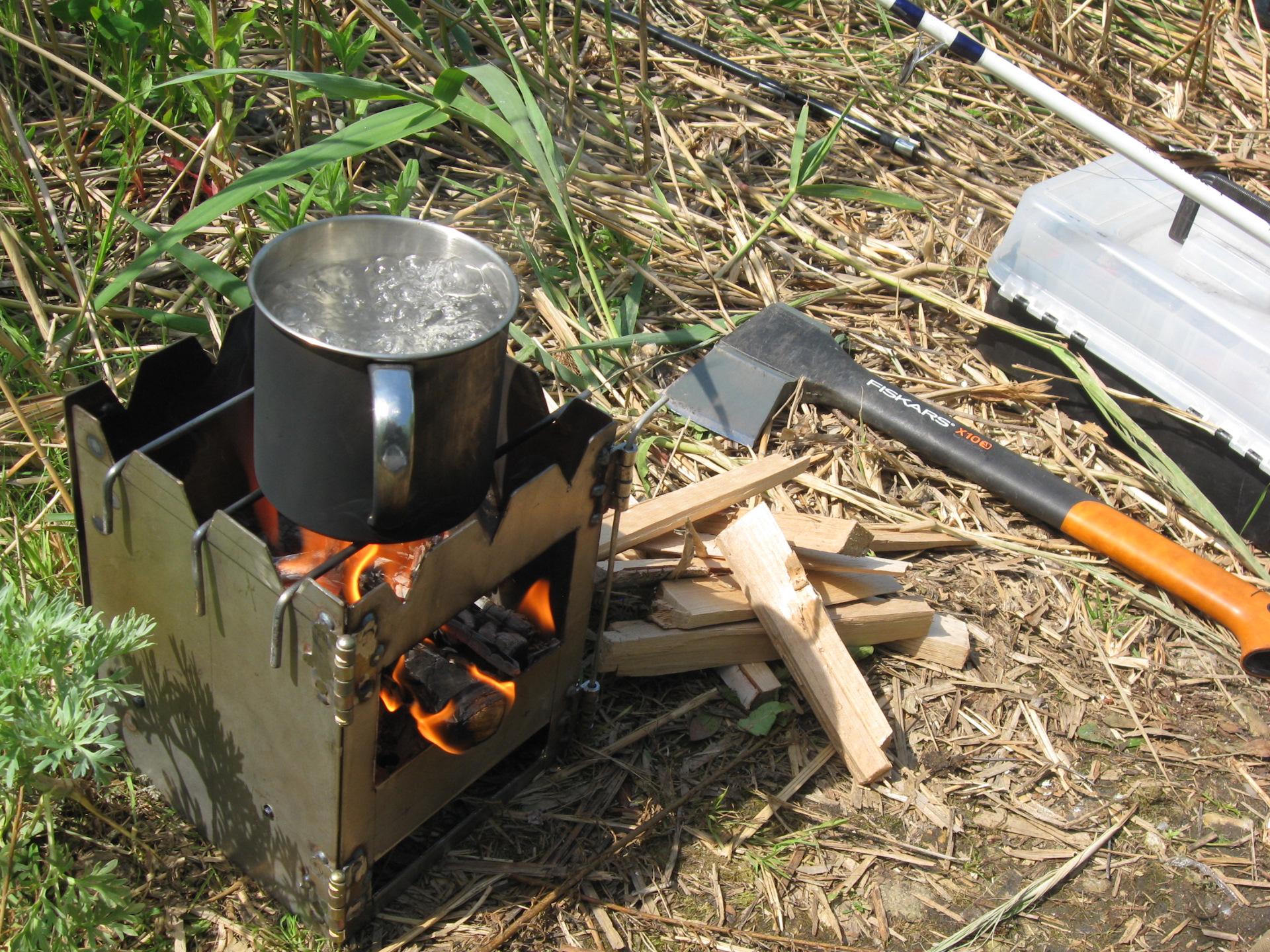 Как делается походная печка своими руками: чертежи и описание