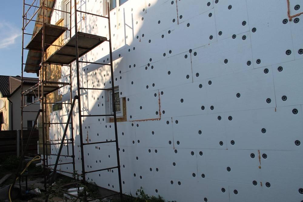Технология утепления стен пенопластом: пошаговая инструкция с фото