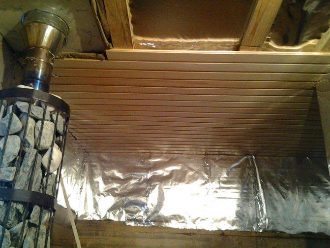 Утеплитель для бани с фольгой, фольгированная теплоизоляция, монтаж своими руками