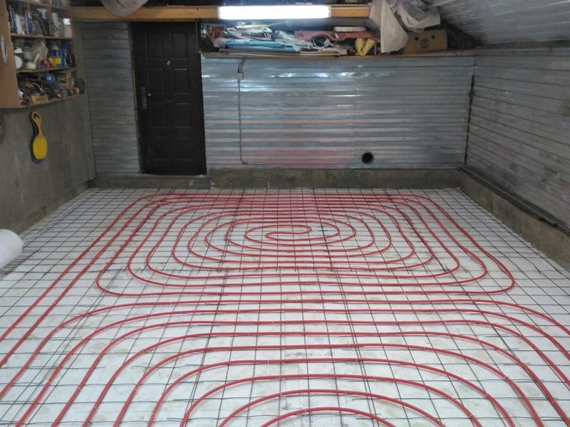 Теплый пол в гараже своими руками водяной, электрический и утепление