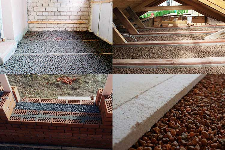Утепление керамзитом - пошаговая инструкция изоляции потолка, стен и пола