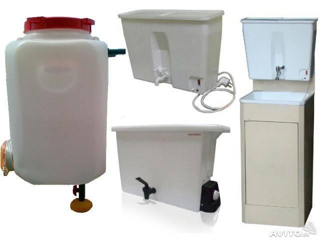 Виды дачных наливных водонагревателей