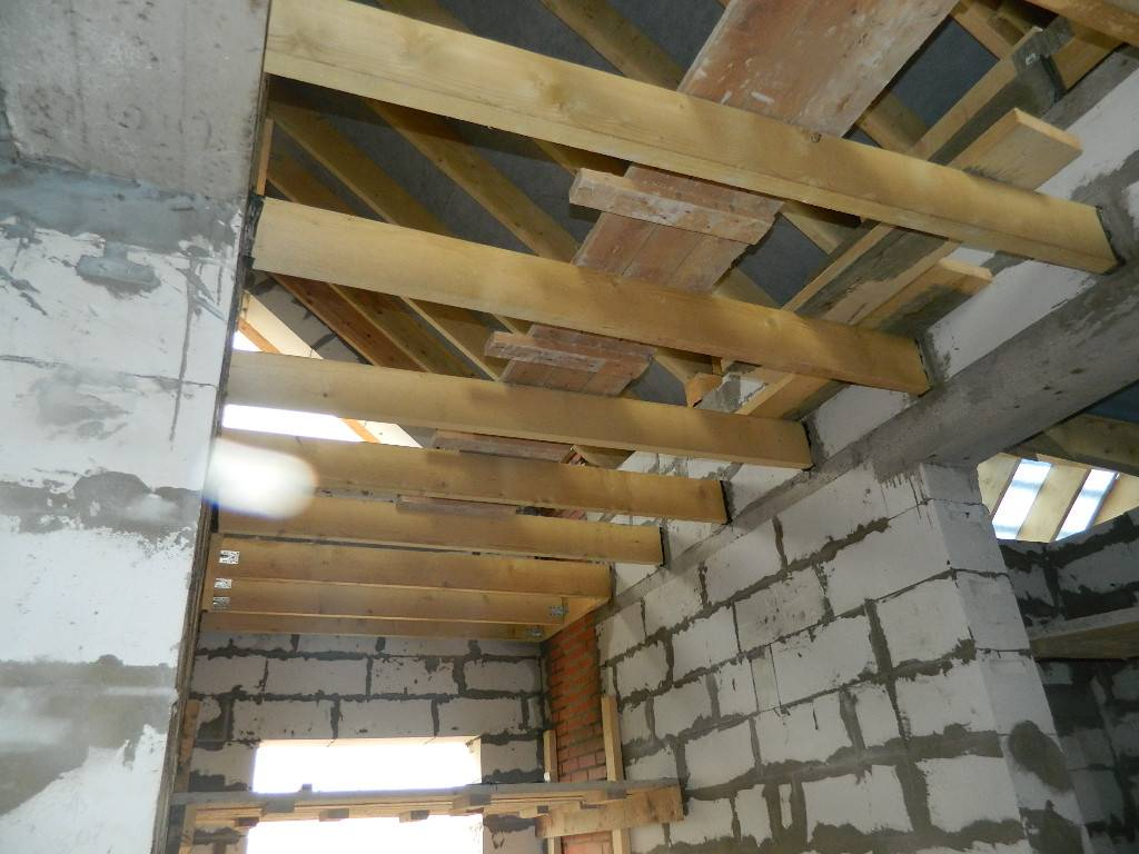 Потолочное перекрытие в доме своими руками из бетона, бруса, дерева (видео)