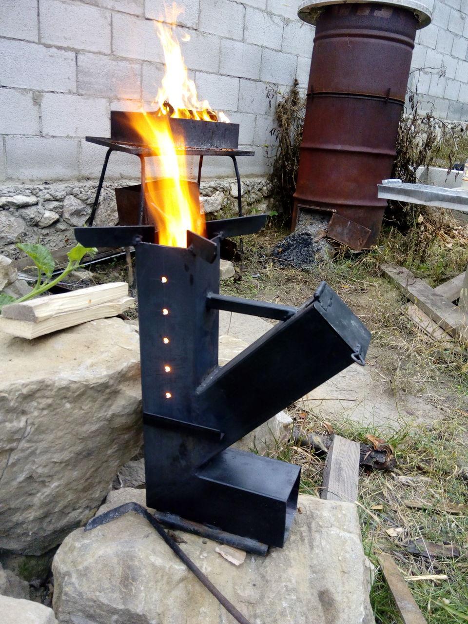 Реактивная тяга на страже уютного тепла: печь-ракета своими руками