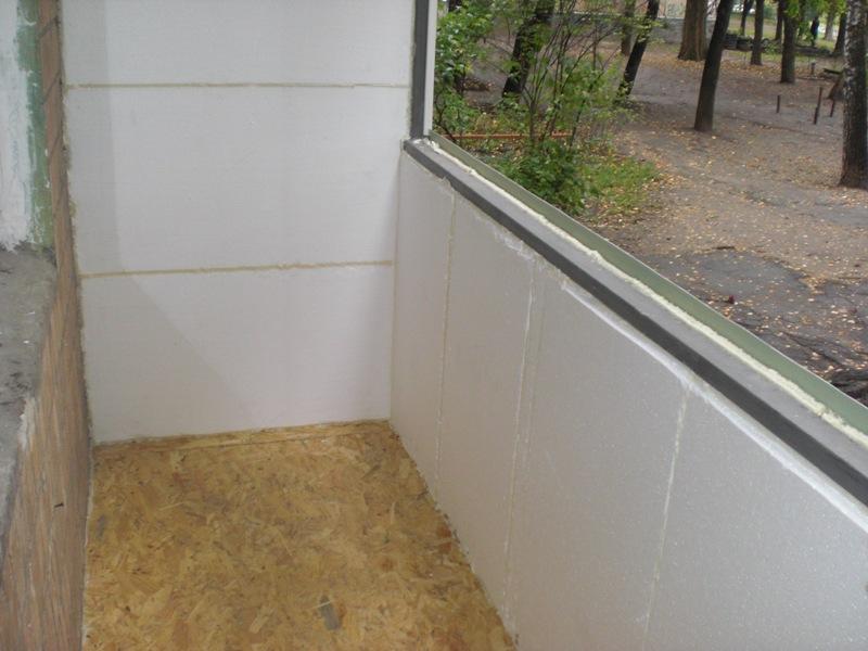 Утепление балкона и лоджии пеноплексом своими руками - пошаговая инструкция, фото