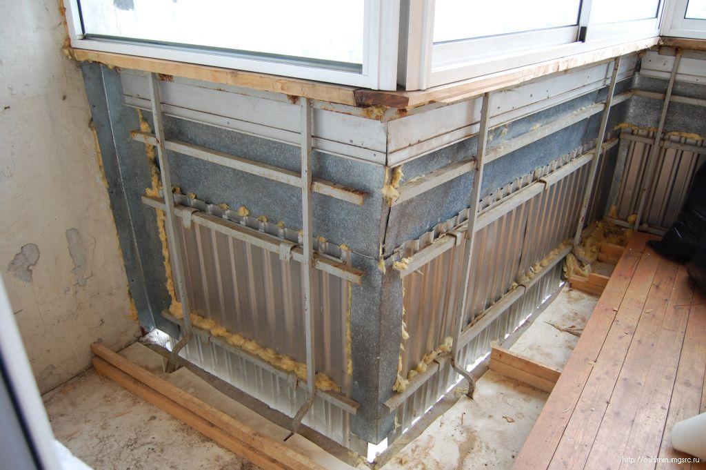 Парапет балкона - его утепление и укрепление
