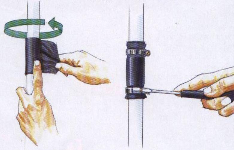 Заделать текущую трубу: подробные инструкции