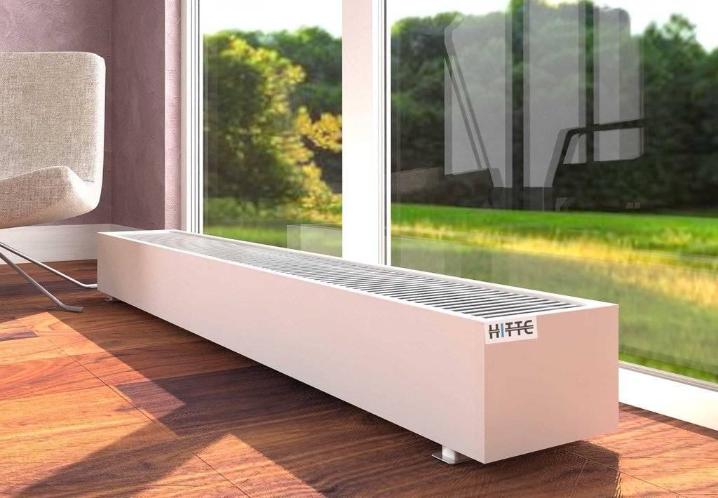 Напольные радиаторы отопления масляные чугунные встраиваемые для панорамных окон, низкие стальные алюминиевые батареи на ножках установка и монтаж в доме