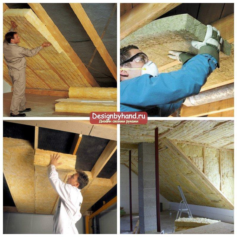 В деревянном доме утепляем потолок, используем современные теплоизоляционные материалы, как всё правильно сделать