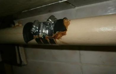 Как устранить свищ в трубе отопления?