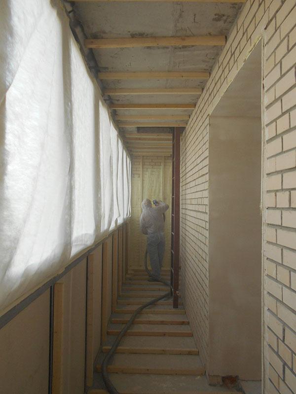 Утепляем пенополиуретаном лоджию и балкон