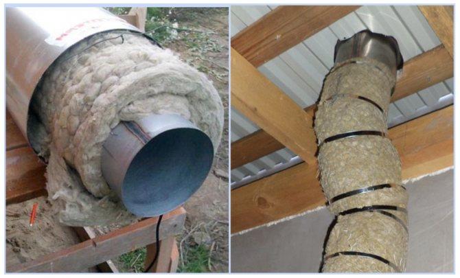 Зачем утеплять дымоходную трубу из нержавеющей стали, изоляция снаружи своими руками