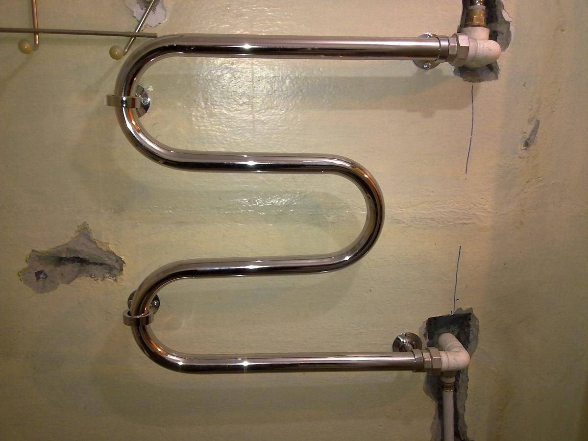 Установка полотенцесушителя в ванной комнате - варианты и схемы, гост