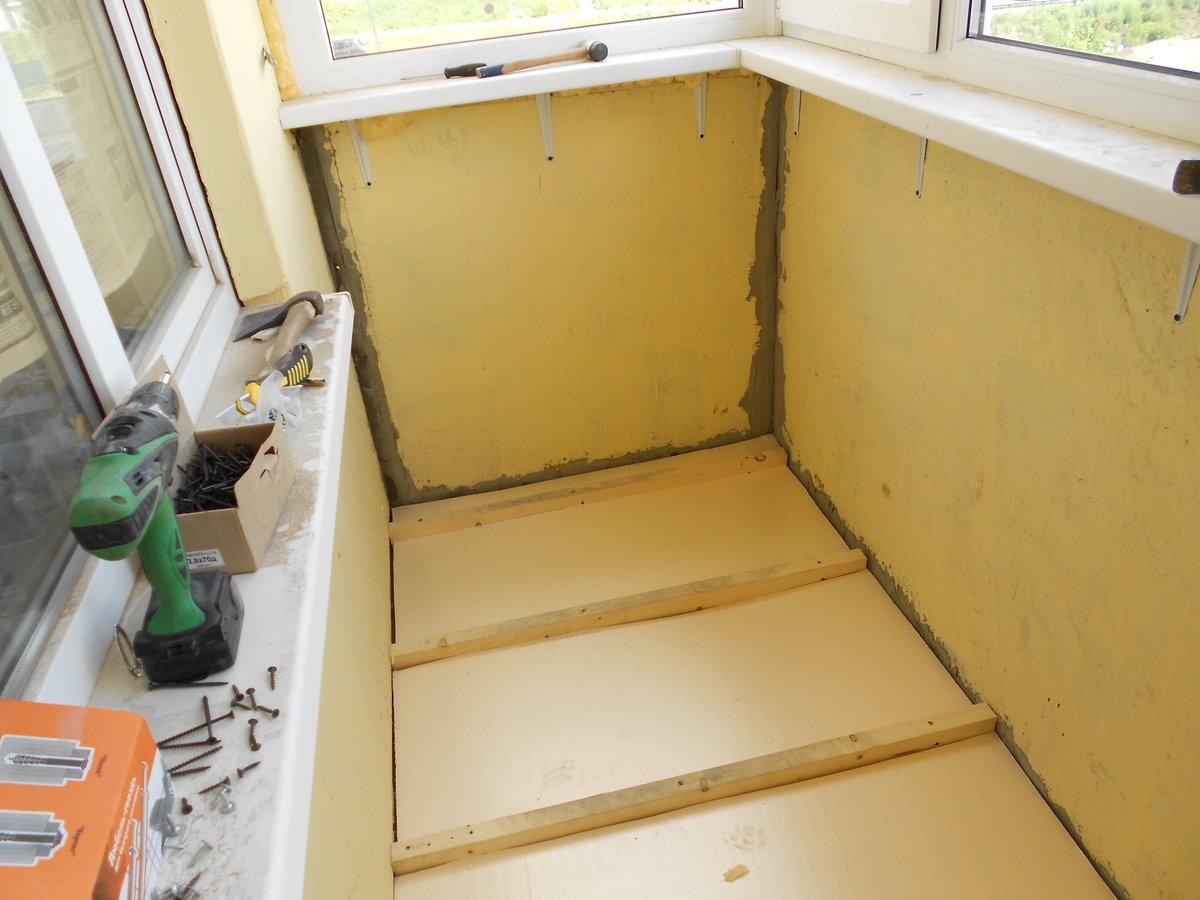 Пошаговая инструкция по утеплению потолка на балконе и лоджии