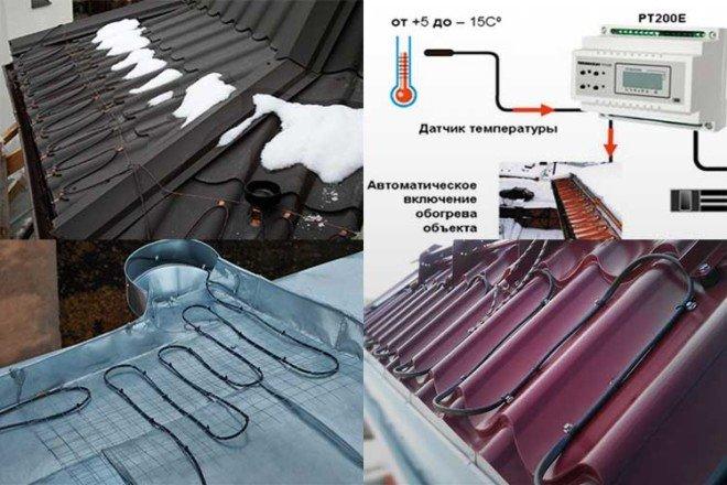 Обогрев водостока: устройство и монтаж системы | строй советы