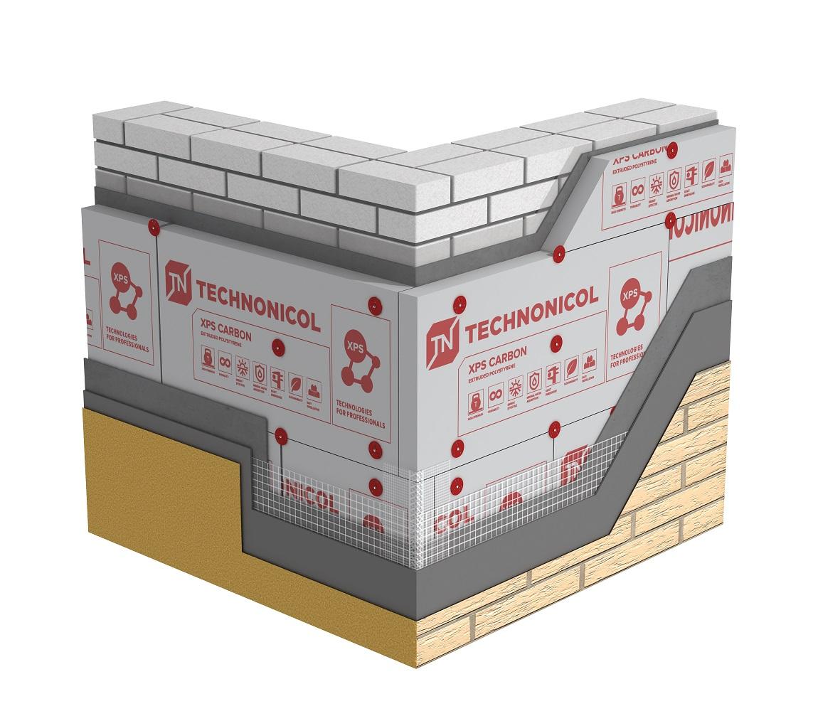 Минераловатный и экструдированный утеплитель технониколь для стен, пола, кровли и фасада