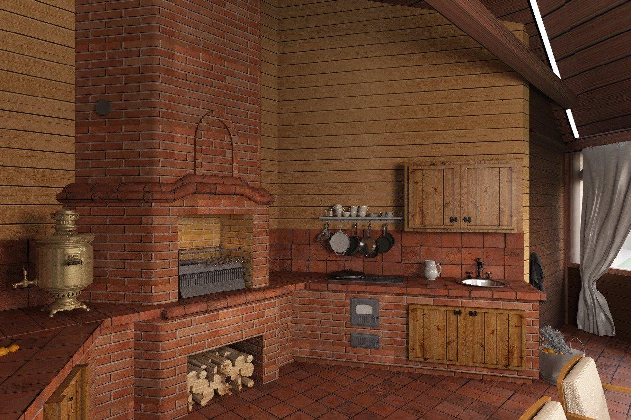 Печь на кухню из кирпича: лучшие проекты для дачи и частного дома