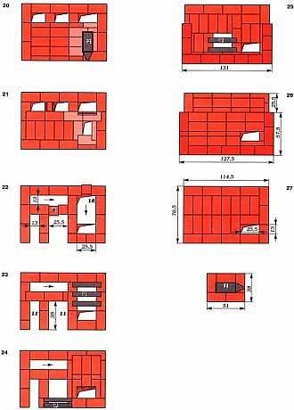 Русские печи своими руками: чертежи, схема и описание кладки
