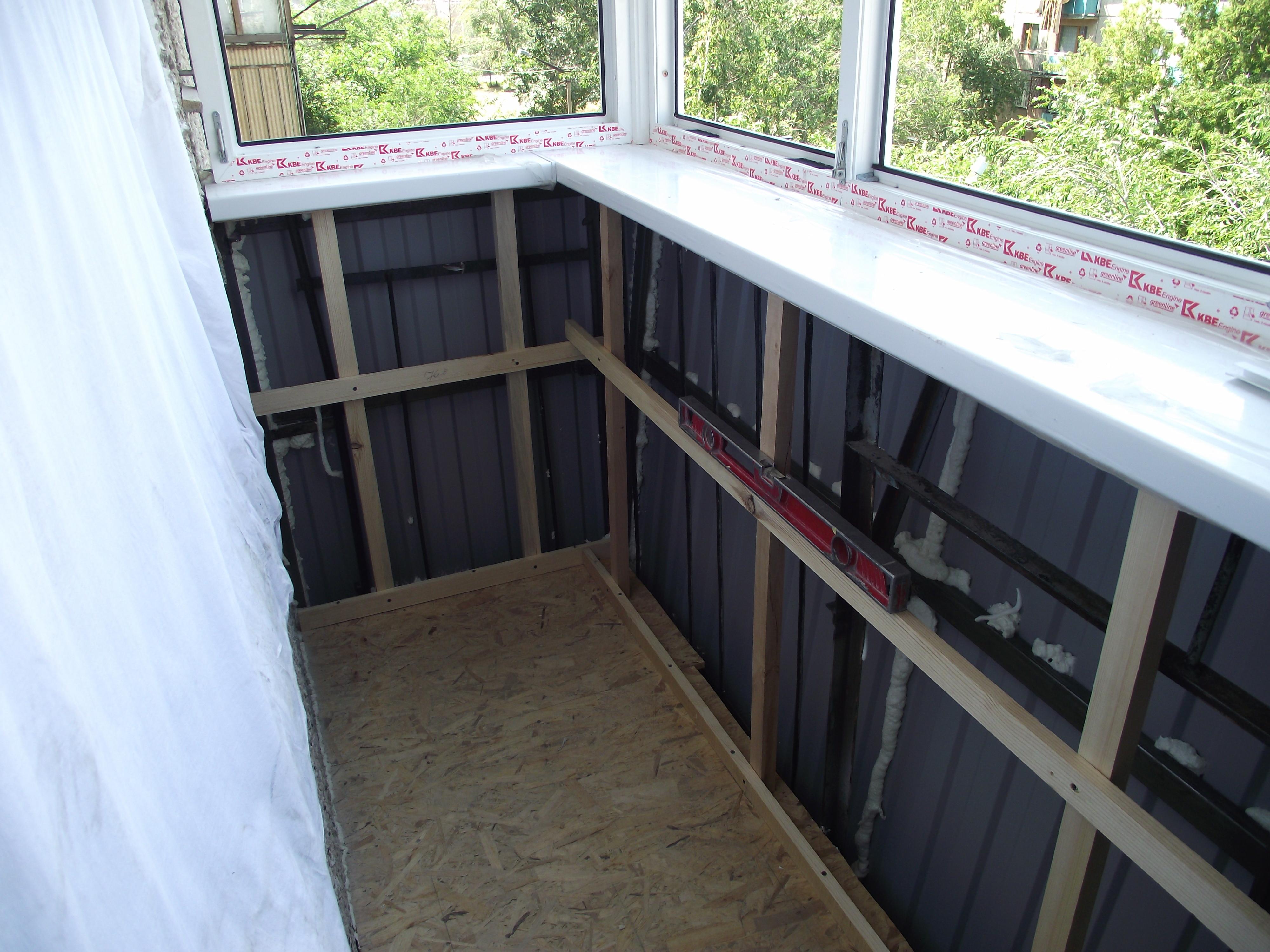 Отделка балкона в хрущевке