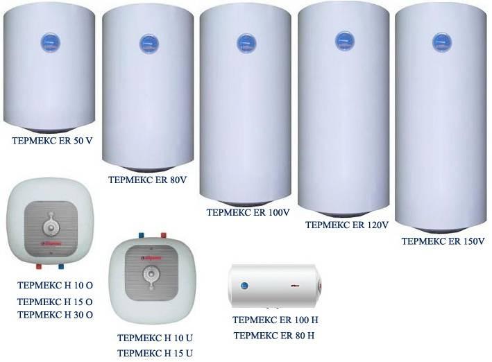 «основные типы водонагревателей»