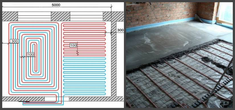 Теплые полы в деревянном доме без стяжки: способы монтажа и материалы