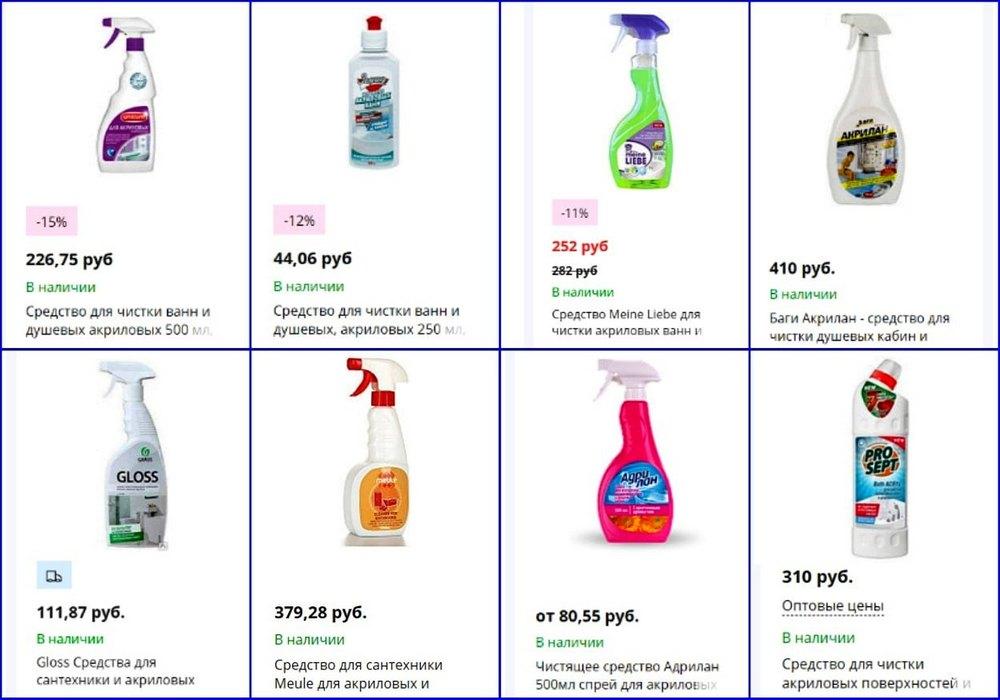 Плюсы и минусы средств для чистки и ухода за акриловыми ваннами, рейтинг самых лучших составов