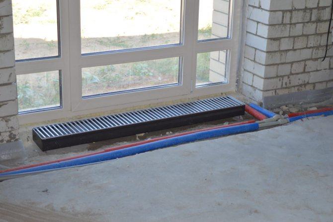 Встраиваемые в пол радиаторы отопления: особенности и тонкости монтажа