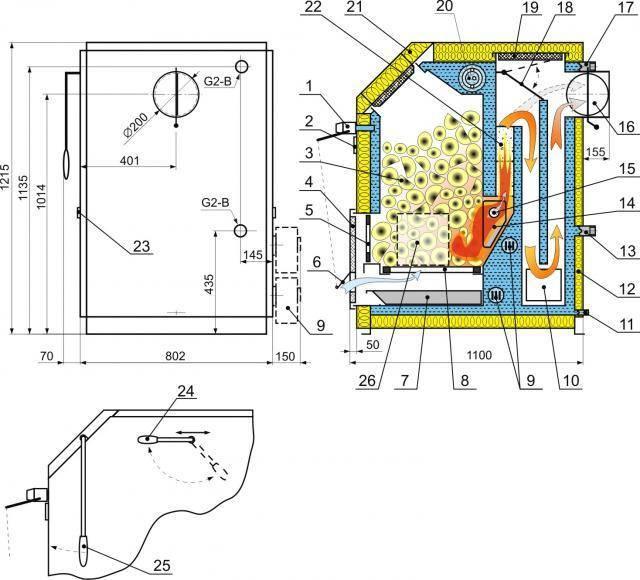 Котел самодельный для отопления: своими руками как сделать и чертежи для газового