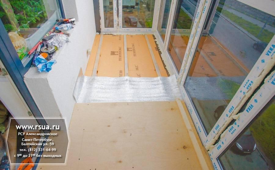 Как правильно утеплить балкон пеноплексом - внутри и снаружи